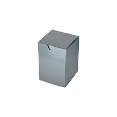 Candle Box 55/80 - Premium Gloss Silver (White Inside)