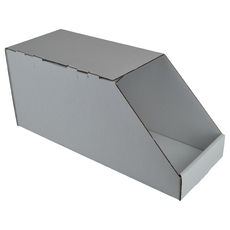 Pick Bin Box Covered - Kraft White (White Inside)
