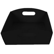 Large Hamper Tray Kraft Black (Double Sided Black)