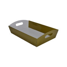 Large Hamper Tray - Premium Gloss Gold (White Inside)