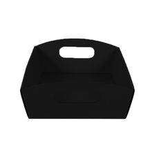 Small Hamper Tray Kraft Black (Double Sided Black)
