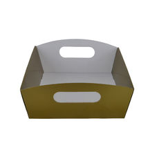 Small Hamper Tray - Premium Gloss Gold (White Inside)