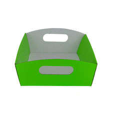 Small Hamper Tray - Premium Gloss Lime Green (White Inside)