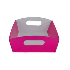 Small Hamper Tray - Premium Gloss Hot Pink (White Inside)