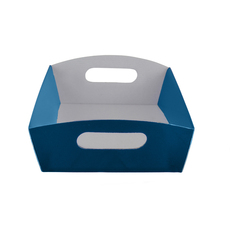 Small Hamper Tray - Premium Matt Navy Blue (White Inside)