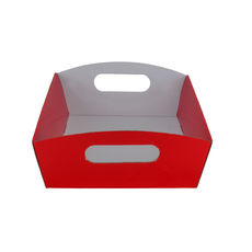 Small Hamper Tray - Premium Gloss Red (White Inside)