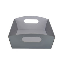 Small Hamper Tray - Premium Matt Silver (White Inside)