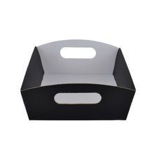 Small Hamper Tray - Premium Matt Black (White Inside)