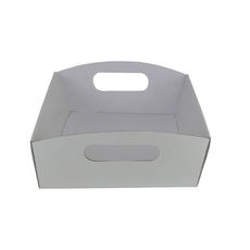 Small Hamper Tray - Premium Matt White (White Inside)