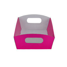 Mini Hamper Tray - Premium Matt Hot Pink (White Inside)
