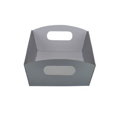 Mini Hamper Tray - Premium Gloss Silver (White Inside)