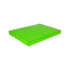 A4 Oversized One Piece Gift Box - Premium Gloss Lime Green Cardboard (White Inside)