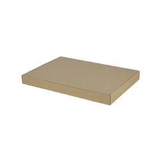 A4 One Piece Gift Box - Brown Cardboard (Brown Inside)