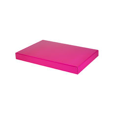 A4 One Piece Gift Box - Premium Gloss Hot Pink Cardboard (White Inside)