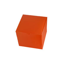 Transparent Gift Box - Small - Frosted Orange