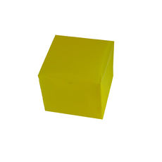 Transparent Gift Box - Small - Frosted Yellow