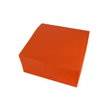 Transparent Gift Box - Large - Frosted Orange