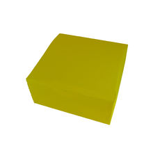 Transparent Gift Box - Large - Frosted Yellow