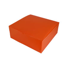 Transparent Gift Box - Extra Large - Frosted Orange
