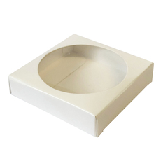 One Cookie Box - Gloss White One Piece Box with Clear Window - Paperboard