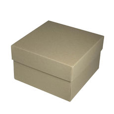 Square Medium Gift Box - Recycled Brown (Brown Inside)