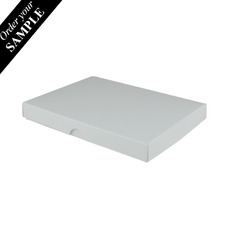 SAMPLE - C6 Invitation Box- White - Separate Base & Lid - Paperboard