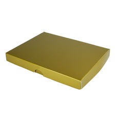 C6 Invitation Box- Gloss Gold (Min Order of 100 units) - Separate Base & Lid