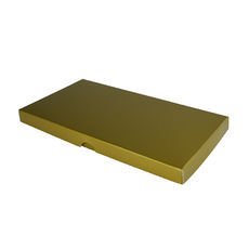 DL Invitation Box- Gloss Gold (Min Order of 100 units) - Separate Base & Lid - Paperboard