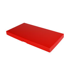 DL Invitation Box- Gloss Red - Separate Base & Lid - Paperboard - Temp out of Stock