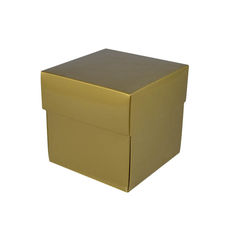 Square Small Gift Box - Gloss Gold  (Separate Base and Lid)