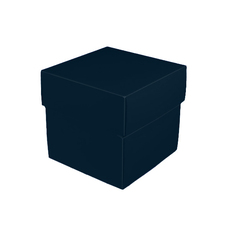 Square Small Gift Box - Matt  Navy Blue  (Separate Base and Lid)