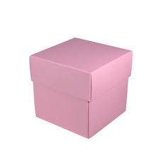 Square Small Gift Box - Matt Pink (White Inside)