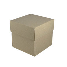 Square Small Gift Box - Recycled Brown (Brown Inside) (Separate Base and Lid) - Paperboard