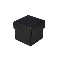 Square Tiny Gift Box - Gloss Black  (Separate Base and Lid)