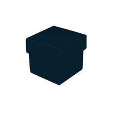 Square Tiny Gift Box -  Matt Navy Blue  (Separate Base and Lid) - Paperboard