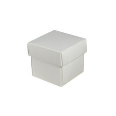 Square Tiny Gift Box - Gloss White  (Separate Base and Lid)
