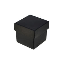 Square Tiny Gift Box - Matt Black  (Separate Base and Lid)