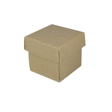 SAMPLE - Square Tiny Gift Box - Recycled Brown (Brown Inside) (Separate Base and Lid)