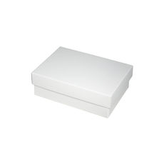 Slim Line A6 Gift Box - White  (Separate Base and Lid) - Paperboard