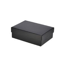 Slim Line A6 Gift Box - Gloss Black  (Separate Base and Lid) - Paperboard