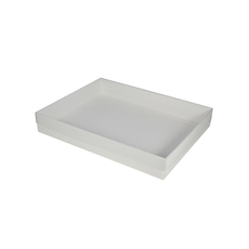 Slim Line A5 Gift Box with Clear Lid - (Separate Base and Lid) - Paperboard