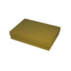 Slim Line A5 Gift Box - Gloss Gold  (Separate Base and Lid) - Paperboard