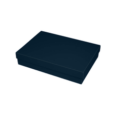 Slim Line A5 Gift Box - Matt Navy Blue  (Separate Base and Lid)