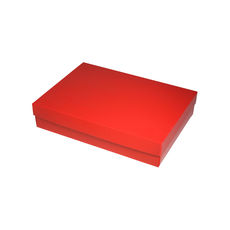 Slim Line A5 Gift Box - Gloss Red  (Separate Base and Lid) - Paperboard - Temp out of Stock