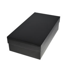 Slim Line Double Wine Gift Box - Gloss Black (optional insert available)  (Separate Base and Lid) - Paperboard