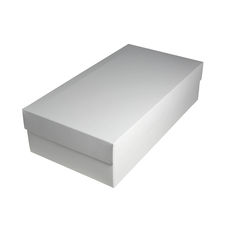 Slim Line Double Wine Gift Box - Gloss White Paperboard (Base & Lid)