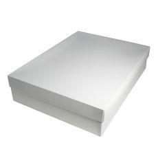 Slim Line Shirt Gift Box 90mm high - White