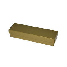 Slim Line Pen Gift Box - Gloss Gold  (Separate Base and Lid) - Paperboard
