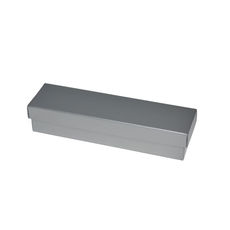 Slim Line Pen Gift Box - Gloss Silver  (Separate Base and Lid) - Paperboard