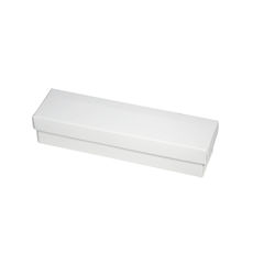 Slim Line Pen Gift Box - Gloss White  (Separate Base and Lid)